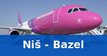 Jeftine avio karte Nis Bazel low cost Wizz air