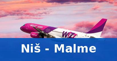 Wizz air jeftine karte Nis Malme