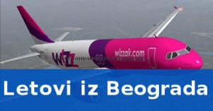 Wizz air let Beograd