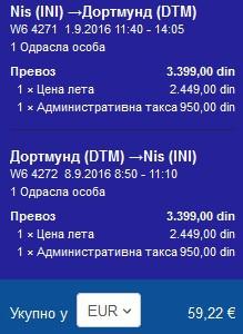 Nis-Dortmund,jeftine avio karte,kuca putovanja